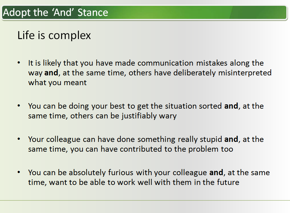 conflict resolution keeping control in difficult situations
